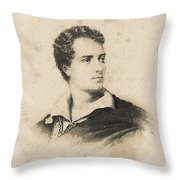 Young Faces From The Past Series By Adam Asar, No 86 Throw Pillow