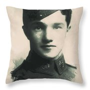 Young Faces From The Past Series By Adam Asar, No 88 Throw Pillow