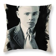 Young Faces From The Past Series By Adam Asar, No 90 Throw Pillow