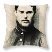 Young Faces From The Past Series By Adam Asar, No 91 Throw Pillow