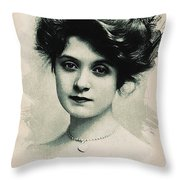 Young Faces From The Past Series By Adam Asar, No 98 Throw Pillow