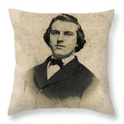 Young Faces From The Past Series By Adam Asar, No 99 Throw Pillow