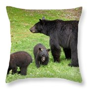 Young Family Throw Pillow