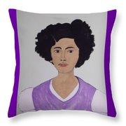 Young Frida Throw Pillow