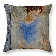 Young Girl 451120 Throw Pillow