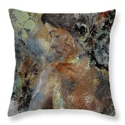 Young Girl 45156987 Throw Pillow