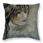 Young Girl 561110 Throw Pillow