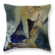 Young Girl 5689474 Throw Pillow