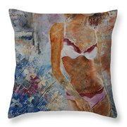 Young Girl  5689652 Throw Pillow
