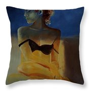 Young Girl  56902140 Throw Pillow