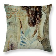 Young Girl  64 Throw Pillow