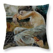 Young Girl  679050 Throw Pillow
