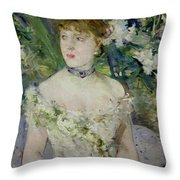 Young Girl In A Ball Gown Throw Pillow