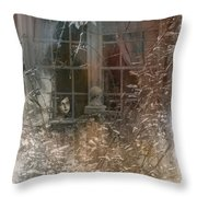 Young Girl Sitting At Window Throw Pillow