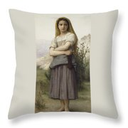 Young Girl Throw Pillow