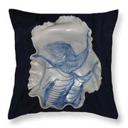 Young Girl With Decoration Throw Pillow