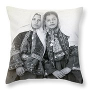 Young Girls Of Bethlehem Year 1896 Throw Pillow
