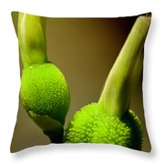 Young Green Shoots Throw Pillow
