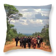 Young Herders, Zambia Throw Pillow