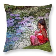 Young Khmer Girl - Cambodia Throw Pillow