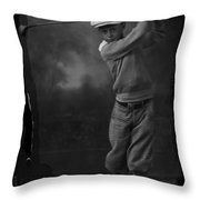 Young Knickerbocker Golfer Throw Pillow