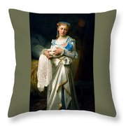 Young Lady And The Baby Throw Pillow