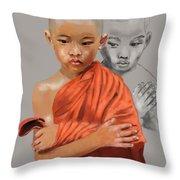 Young Lama Throw Pillow