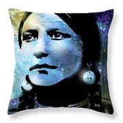 Young Maiden Throw Pillow