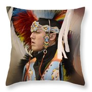 Pow Wow Young Man Throw Pillow