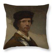 Young Man In A Fur Cap Throw Pillow