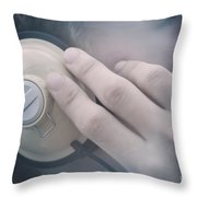 Young Man Listening To Music Headphones Throw Pillow