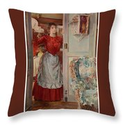 Young Man On A Door French Room, Emilio Throw Pillow