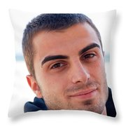 Young Man Portrait Throw Pillow