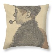 Young Man With A Pipe Nuenen, March 1884 Vincent Van Gogh 1853 - 1890 Throw Pillow