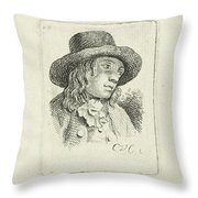 Young Man With Hat Throw Pillow