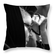 young Orthodox  nun. Throw Pillow