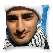 Young Palestinian Man Throw Pillow