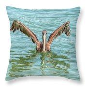 Young Pelican 0087 Throw Pillow