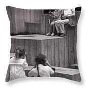 Young Photographers Throw Pillow