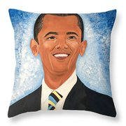 Young President Obama Throw Pillow