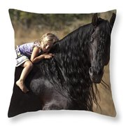 Young Rider Throw Pillow