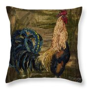 Young Rooster Throw Pillow