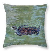 Young Sea Turtle Throw Pillow