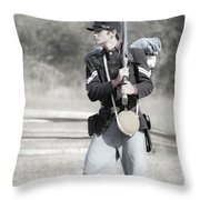 Young Soldier II Throw Pillow