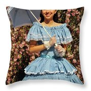 Young Southern Belle Throw Pillow