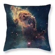 Young Stars Flare In The Carina Nebula Throw Pillow