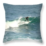 Young Surfers Four Throw Pillow