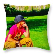 Young Thinker Throw Pillow
