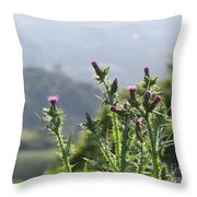Young Thistles Throw Pillow