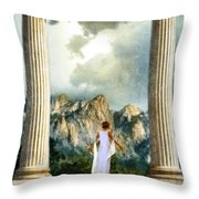 Young Woman As A Classical Woman Of Ancient Egypt Rome Or Greece Throw Pillow